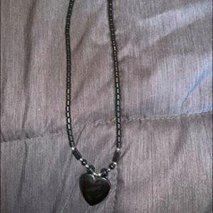 Jewelry - Black Onyx Heart Necklace
